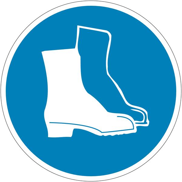 Panneau port de chaussures de s curit obligatoire - Port des lunettes de securite obligatoire ...