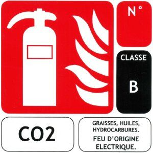plaque co2 (B) 75 x 100 mm