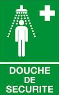 "Plaque ""douche portative"" 200 x 200 mm"