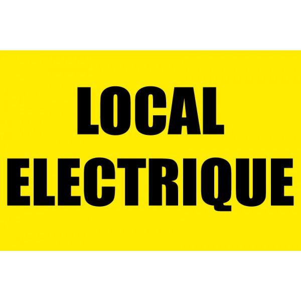Panneau jaune local lectrique for Local electrique